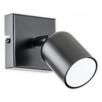 LEMIR O2620 K1 CZA | Denis Lemir spot lámpa elforgatható alkatrészek 1x GU10 matt fekete