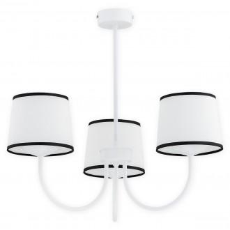 LEMIR O2793 W3 BIA | Lume Lemir csillár lámpa 3x E27 matt fehér, fehér, fekete