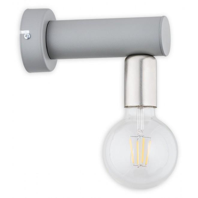 LEMIR O2820 K1 SZA | Foco Lemir falikar lámpa 1x E27 matt szürke, nikkel