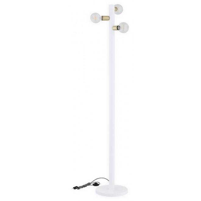 LEMIR O2829 L3 BIA | Foco Lemir álló lámpa 173cm taposókapcsoló 3x E27 matt fehér, patina