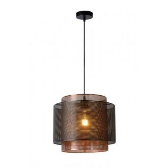 LUCIDE 02404/01/30 | Orrin Lucide függeszték lámpa rövidíthető vezeték 1x E27 fekete, barna