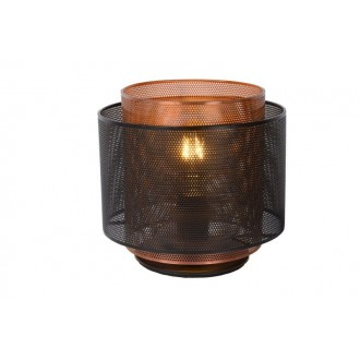 LUCIDE 02504/01/30 | Orrin Lucide asztali lámpa 160cm 1x E27 fekete, barna