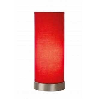 LUCIDE 03508/01/32 | Tubi Lucide asztali lámpa 25,5cm vezeték kapcsoló 1x E14 króm, piros