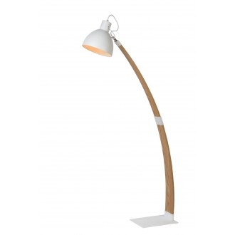 LUCIDE 03713/01/31 | Curf Lucide álló lámpa 143cm kapcsoló billenthető 1x E27 fa., fehér
