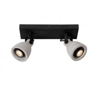 LUCIDE 05910/10/30 | Concri Lucide spot lámpa elforgatható alkatrészek 2x GU10 640lm 3000K fekete, szürke