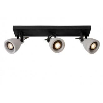 LUCIDE 05910/15/30 | Concri Lucide spot lámpa elforgatható alkatrészek 3x GU10 960lm 3000K fekete, szürke