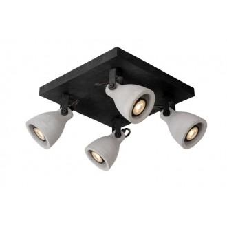 LUCIDE 05910/19/30 | Concri Lucide spot lámpa elforgatható alkatrészek 4x GU10 1280lm 3000K fekete, szürke
