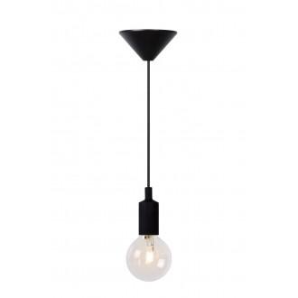 LUCIDE 08408/01/30 | Fix Lucide függeszték lámpa rövidíthető vezeték 1x E27 fekete