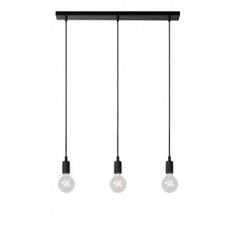 LUCIDE 08408/03/30 | Fix Lucide függeszték lámpa rövidíthető vezeték 3x E27 fekete