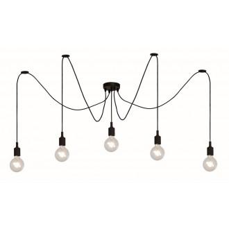 LUCIDE 08408/05/30 | Fix Lucide függeszték lámpa állítható magasság 5x E27 fekete