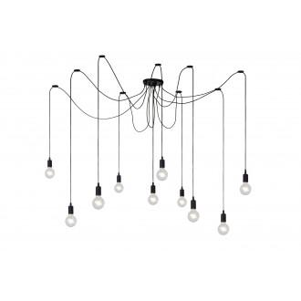 LUCIDE 08408/10/30 | Fix Lucide függeszték lámpa állítható magasság 10x E27 fekete