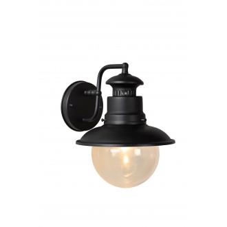 LUCIDE 11811/01/30 | FigoL Lucide falikar lámpa 1x E27 IP44 fekete, átlátszó
