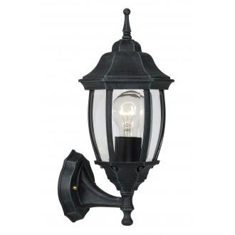 LUCIDE 11832/01/45 | Tireno Lucide falikar lámpa 1x E27 IP44 antikolt zöld, átlátszó