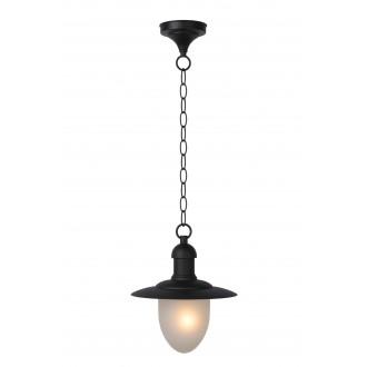 LUCIDE 11872/01/30 | ArubaL Lucide függeszték lámpa 1x E27 IP44 fekete, opál