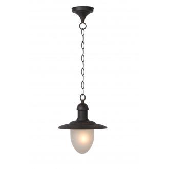 LUCIDE 11872/01/97 | ArubaL Lucide függeszték lámpa 1x E27 IP44 rozsdabarna, opál