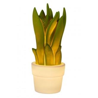 LUCIDE 13522/01/33 | Sansevieria Lucide asztali lámpa 31,6cm 1x E14 fehér, zöld