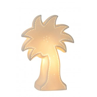 LUCIDE 13523/01/31 | Palm Lucide asztali lámpa 26,3cm 1x E14 fehér, zöld