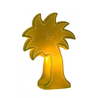 LUCIDE 13523/01/33 | Palm Lucide asztali lámpa 26,3cm 1x E14 fehér, zöld