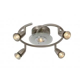 LUCIDE 13957/24/12 | Bingo Lucide spot lámpa elforgatható alkatrészek 5x GU10 350lm 2700K szatén nikkel