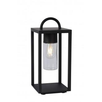LUCIDE 14882/01/30 | Glimmer Lucide asztali lámpa 45,5cm 1x E27 IP65 fekete, átlátszó