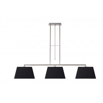LUCIDE 17401/03/30 | Bilja Lucide függeszték lámpa elforgatható alkatrészek 3x E27 króm, fekete