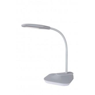 LUCIDE 18672/05/36 | Aiden-LU Lucide asztali, csiptetős lámpa 59,5cm fényerőszabályzós érintőkapcsoló szabályozható fényerő, USB csatlakozó 1x LED 400lm 3000K szürke