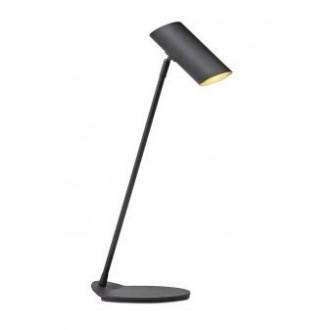 LUCIDE 19600/01/30 | Hester Lucide asztali lámpa 54,5cm kapcsoló elforgatható alkatrészek 1x GU10 fekete
