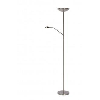 LUCIDE 19791/24/12 | Zenith-LU Lucide álló lámpa 180cm fényerőszabályzós kapcsoló, kapcsoló elforgatható alkatrészek 1x LED 1600lm + 1x LED 320lm 3000K nikkel