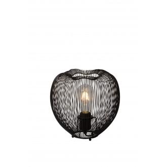 LUCIDE 20501/25/30 | Wirio Lucide asztali lámpa 25cm kapcsoló 1x E27 fekete