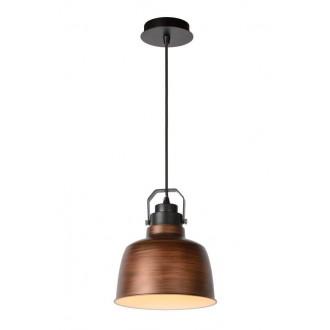 LUCIDE 21413/21/17 | Naut Lucide függeszték lámpa rövidíthető vezeték 1x E27 fekete, réz