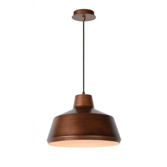 LUCIDE 21414/35/17 | Naut Lucide függeszték lámpa rövidíthető vezeték 1x E27 fekete, réz