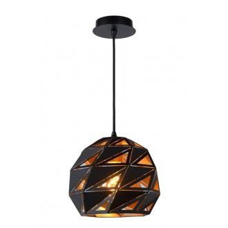 LUCIDE 21415/25/30 | Malunga Lucide függeszték lámpa rövidíthető vezeték 1x E27 fekete, arany