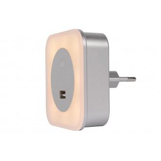 LUCIDE 22203/01/36 | Led-Night-Light Lucide éjjelifény lámpa USB csatlakozó 5x LED 50lm 2700K ezüst, opál