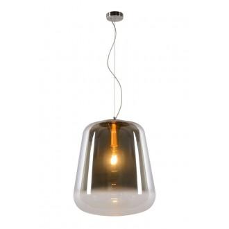 LUCIDE 25401/45/65 | Glorio Lucide függeszték lámpa rövidíthető vezeték 1x E27 füst