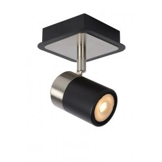 LUCIDE 26957/05/30 | Lennert Lucide spot lámpa elforgatható alkatrészek 1x GU10 320lm 3000K fekete, króm