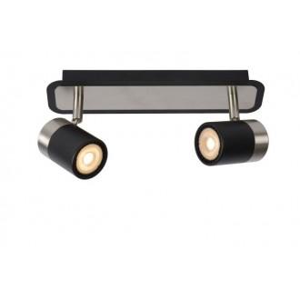 LUCIDE 26957/10/30   Lennert Lucide spot lámpa elforgatható alkatrészek 2x GU10 320lm 3000K fekete, króm