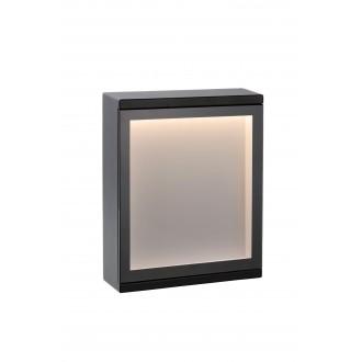 LUCIDE 27879/06/30 | Cadra Lucide fali lámpa 1x LED 312lm 3000K IP54 fekete, opál