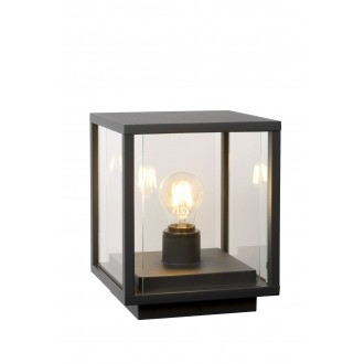LUCIDE 27883/25/30 | ClaireL Lucide asztali lámpa 24,5cm 1x E27 IP54 fekete, átlátszó