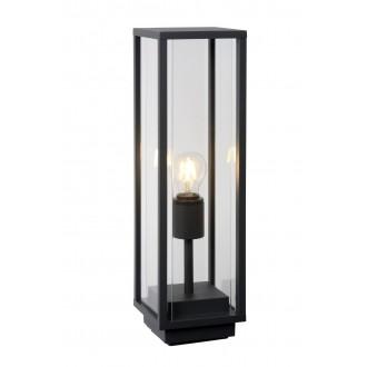 LUCIDE 27883/50/30 | ClaireL Lucide asztali lámpa 50cm 1x E27 IP54 fekete, átlátszó