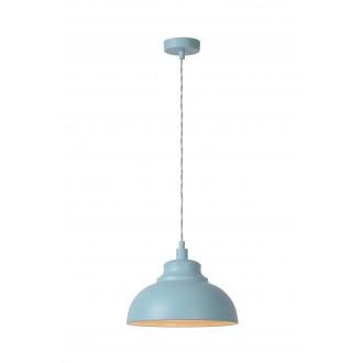 LUCIDE 34400/29/68 | IslaL Lucide függeszték lámpa rövidíthető vezeték 1x E14 halványkék, fehér