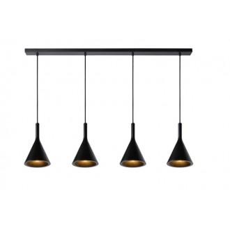 LUCIDE 35410/04/30 | Gipsy-LU Lucide függeszték lámpa festhető 4x E27 fekete