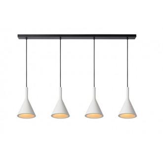 LUCIDE 35410/04/31 | Gipsy-LU Lucide függeszték lámpa festhető 4x E27 fehér