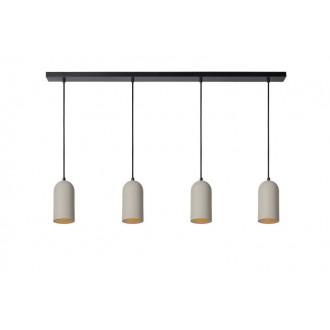 LUCIDE 35411/04/41 | Gipsy-LU Lucide függeszték lámpa festhető 4x E27 fekete, szürke