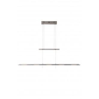 LUCIDE 36403/30/12 | Nova Lucide függeszték lámpa fényerőszabályzós kapcsoló ellensúlyos, állítható magasság 5x LED 2100lm 3000K szatén króm