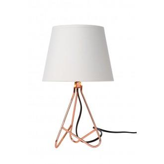 LUCIDE 47500/81/17 | Gitta Lucide asztali lámpa 29cm vezeték kapcsoló 1x E14 bronz, fehér