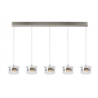 LUCIDE 48452/25/12 | Shana Lucide függeszték lámpa rövidíthető vezeték 5x LED 1600lm 3000K króm, átlátszó