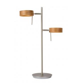 LUCIDE 48551/10/72 | Enia Lucide álló lámpa 54,5cm vezeték kapcsoló 2x LED 400lm 3000K króm, fa.