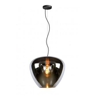 LUCIDE 70478/40/65 | Soufian Lucide függeszték lámpa 1x E27 arany, füst