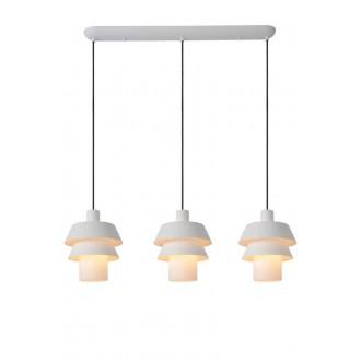 LUCIDE 70481/03/31 | Jaden-LU Lucide függeszték lámpa rövidíthető vezeték 3x E27 fehér