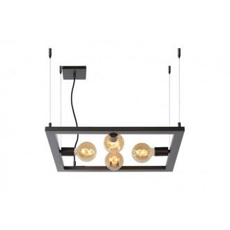 LUCIDE 73403/04/15 | Thor-LU Lucide asztali lámpa 130cm 4x E27 acélszürke